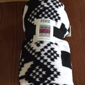 "VS Pink cozy blanket 50"" x 60"" NWT"